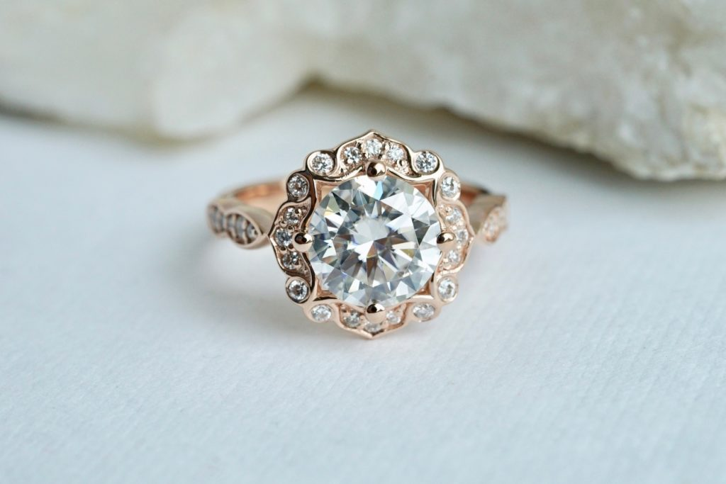 affordable moissanite engagement rings
